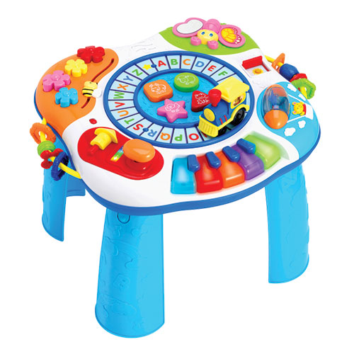 Winfun Letter Train Amp Piano Activity Table Baby Boom