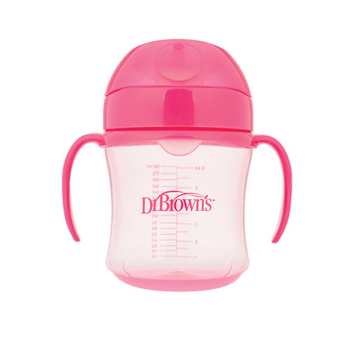 Dr Brown Cup Soft Spout 170ml Pink Baby Boom