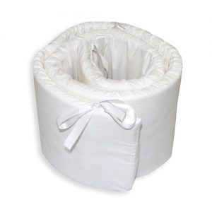 Cot Bumper with white cover