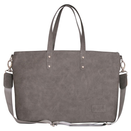 Grey Laminated Shopper Bag
