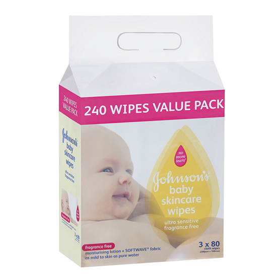 Wipes Fragrance Free 240's