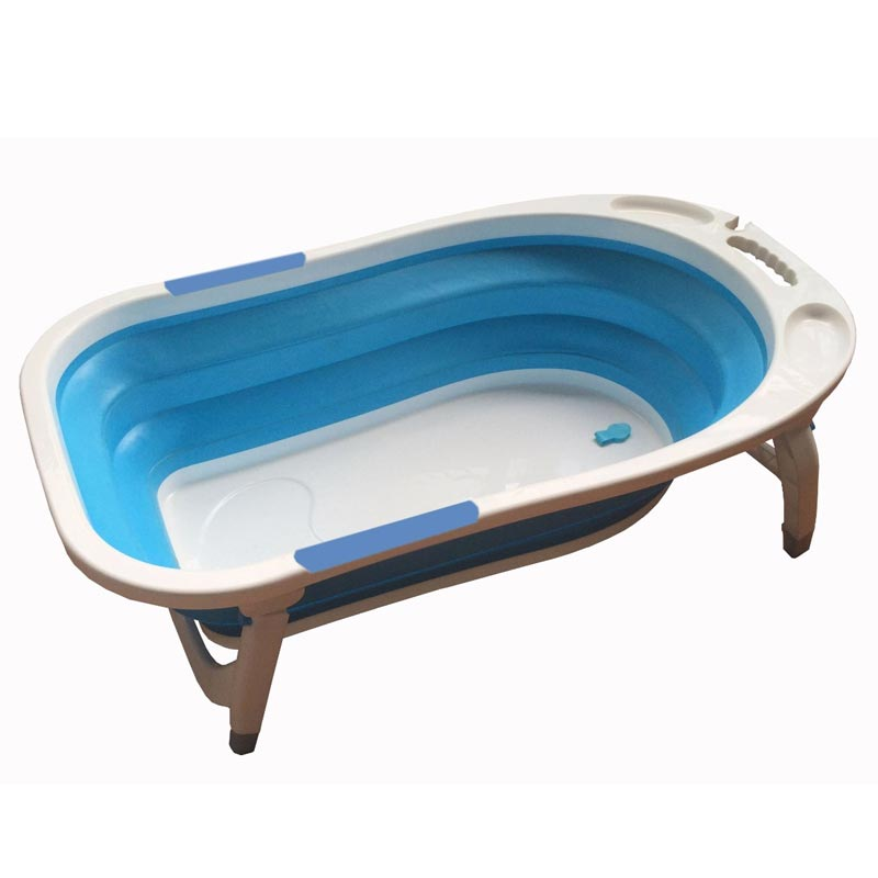 Baby Leo Folding Bath Tub Blue Baby Boom
