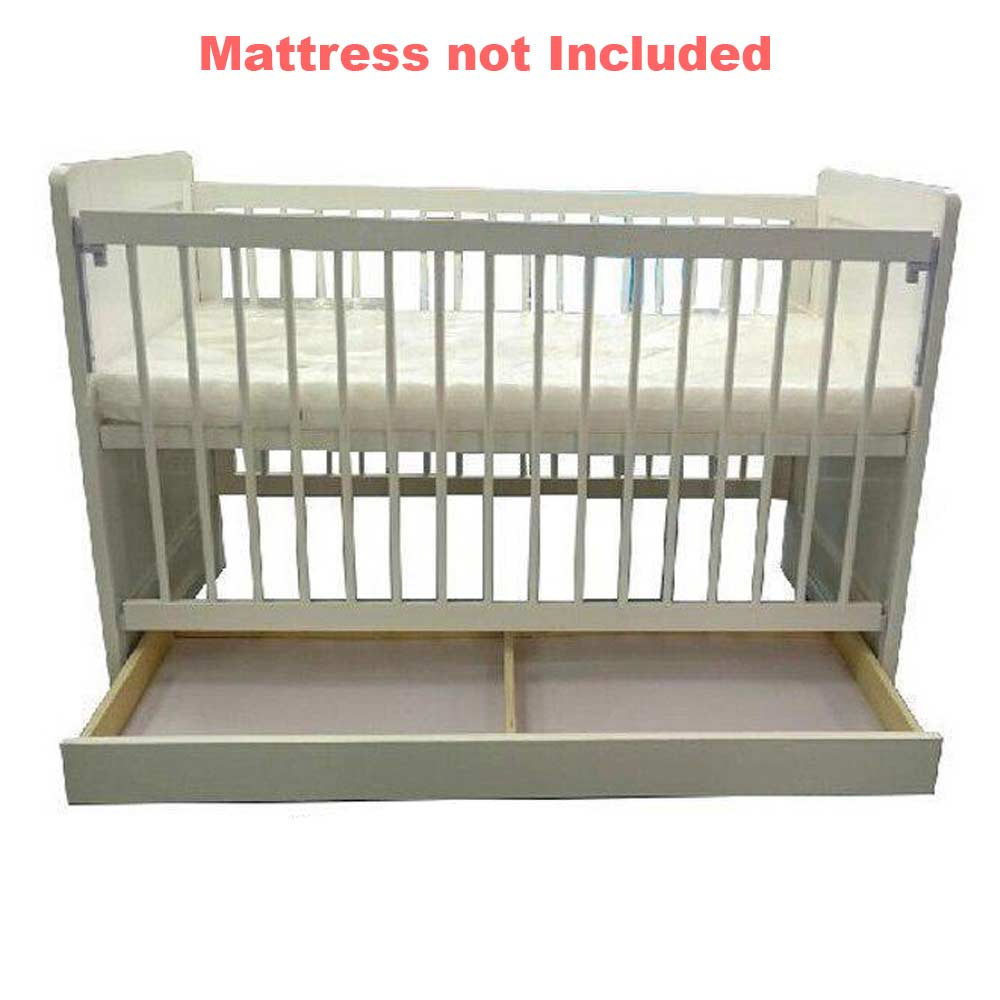 Mandys White Wooden Cot Baby Boom