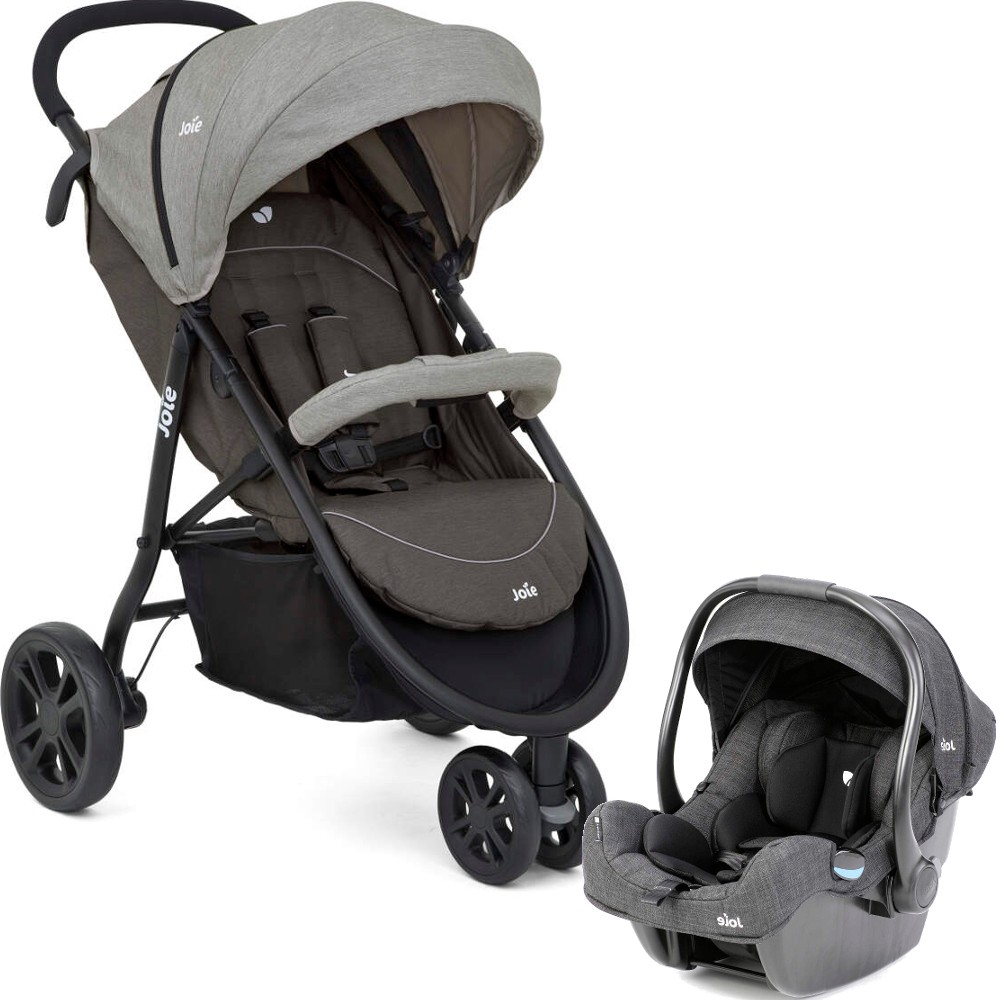 Joie Litetrax 3 Travel System Pewter Baby Boom