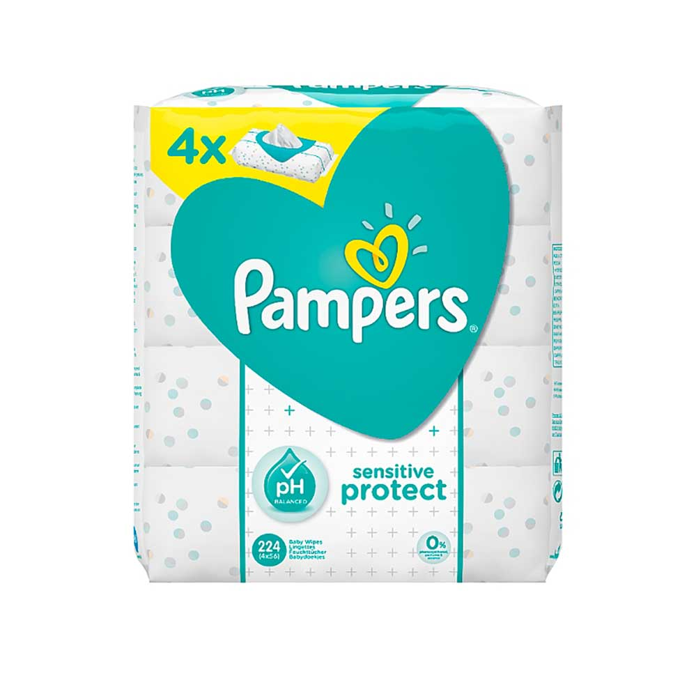 Pampers Sensitive Baby Wipes 4x56 S Baby Boom