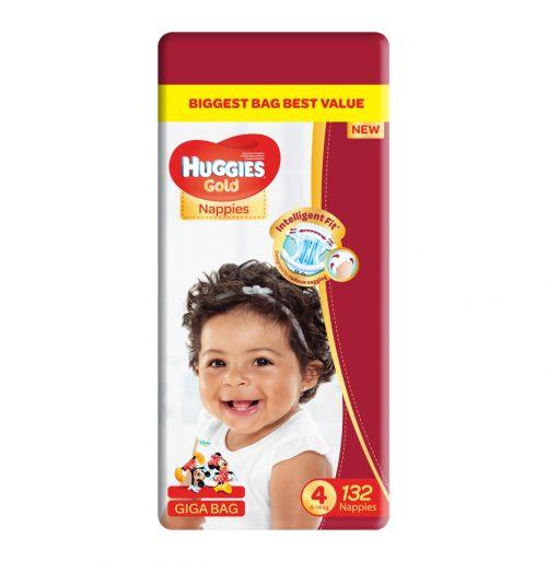 Huggies Gold Disposable Nappies Giga Bag No 4 132 S Baby