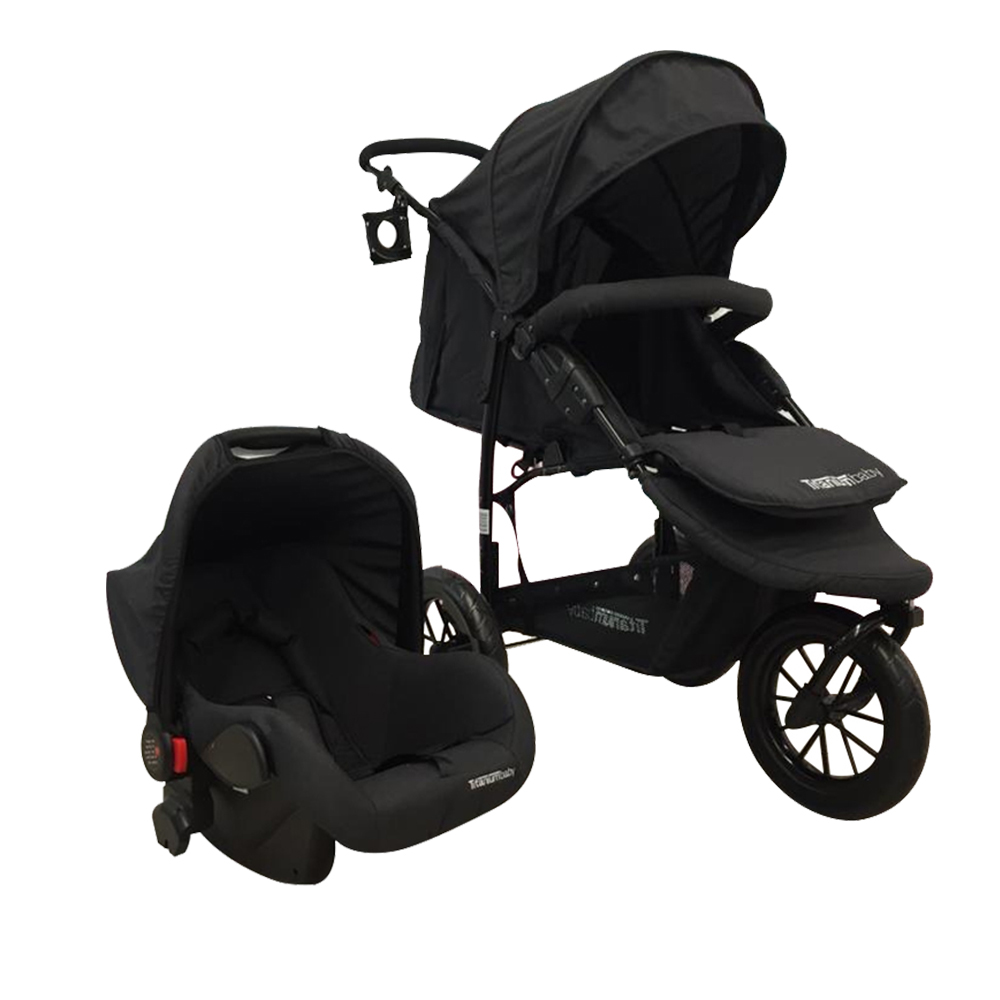 TITANIUM BABY TRAVEL SYSTEM APACHE CHARCOAL - Baby Boom