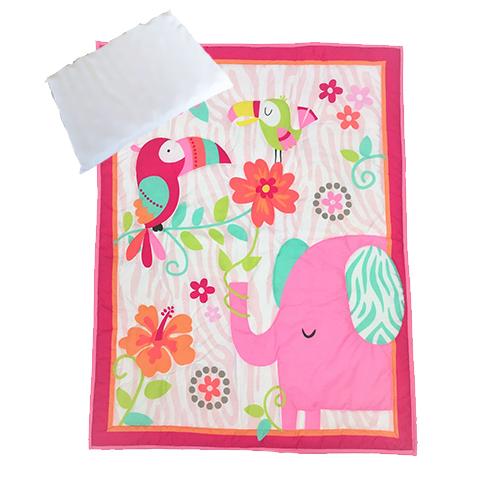 Snuggletime Quilt Set 3pc Pink Ellie Baby Boom