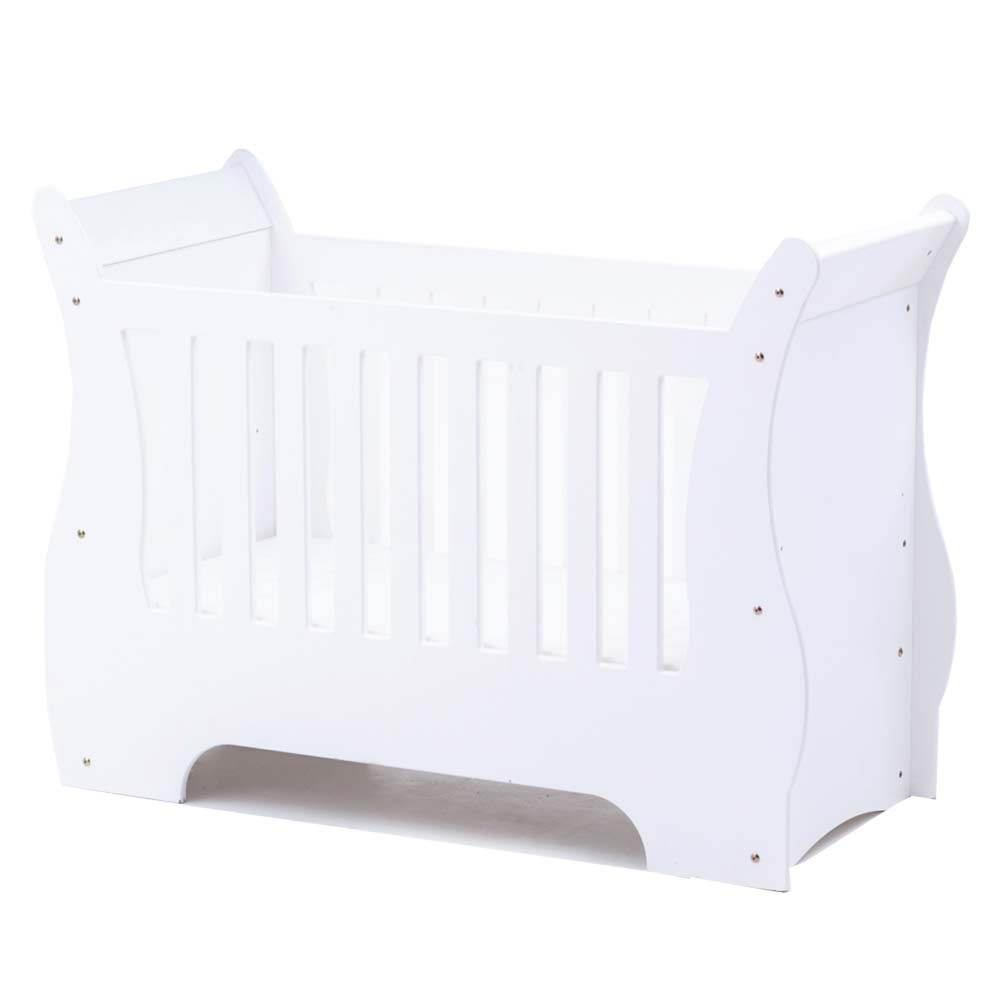 - CHELSEA SLEIGH COT WHITE – Baby Boom