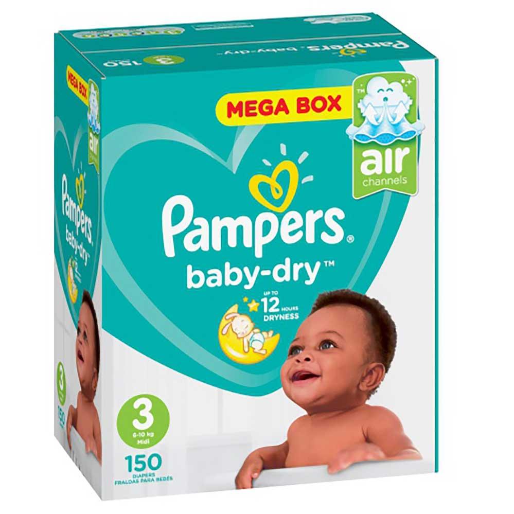 PAMPERS ACTIVE BABY MIDI 150'S MEGA BOX - Baby Boom