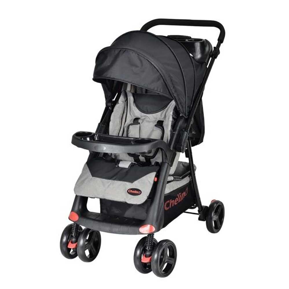 Chelino Tazz Stroller Black And Grey Baby Boom