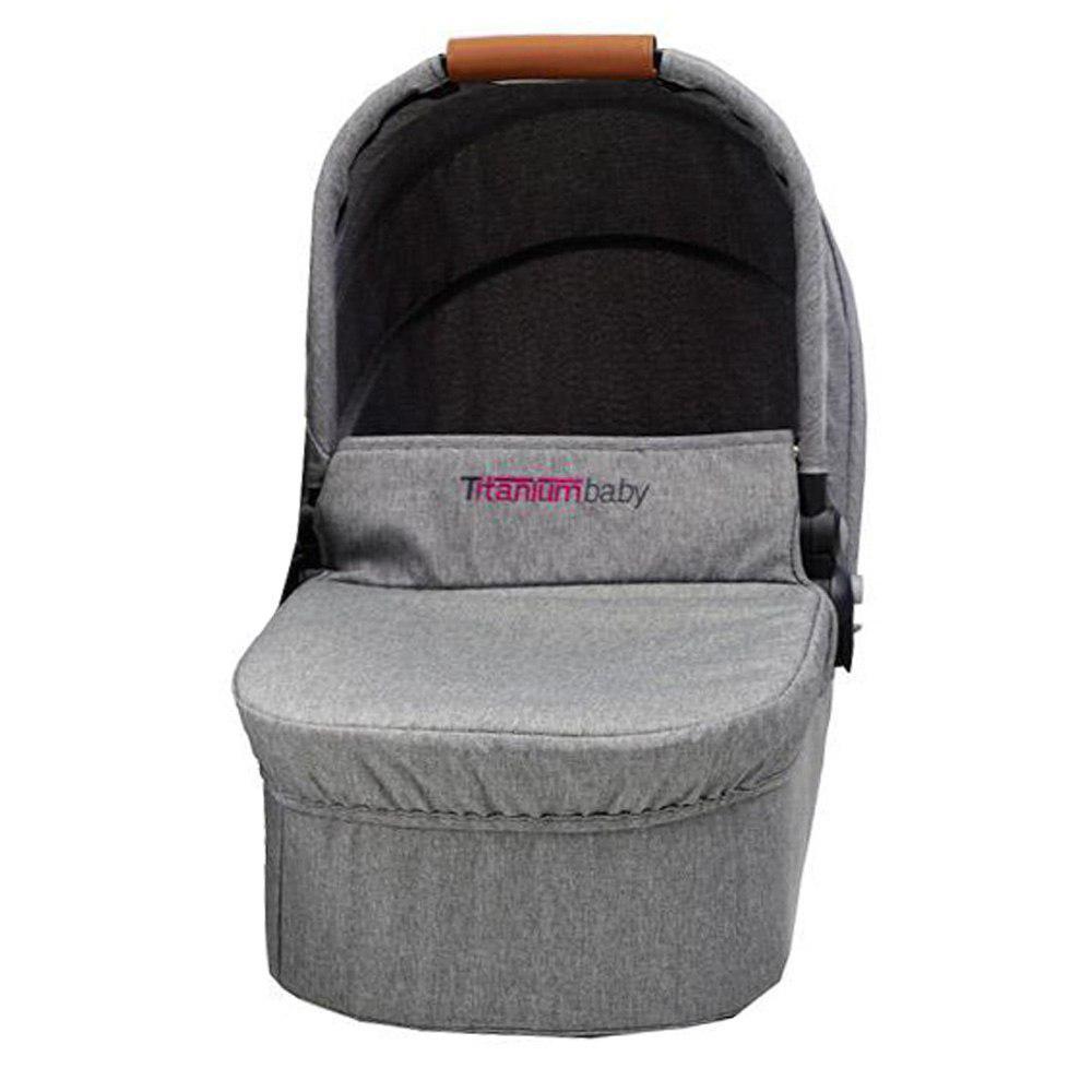 Titanium Baby Chippewa Carry Cot Light Grey Baby Boom