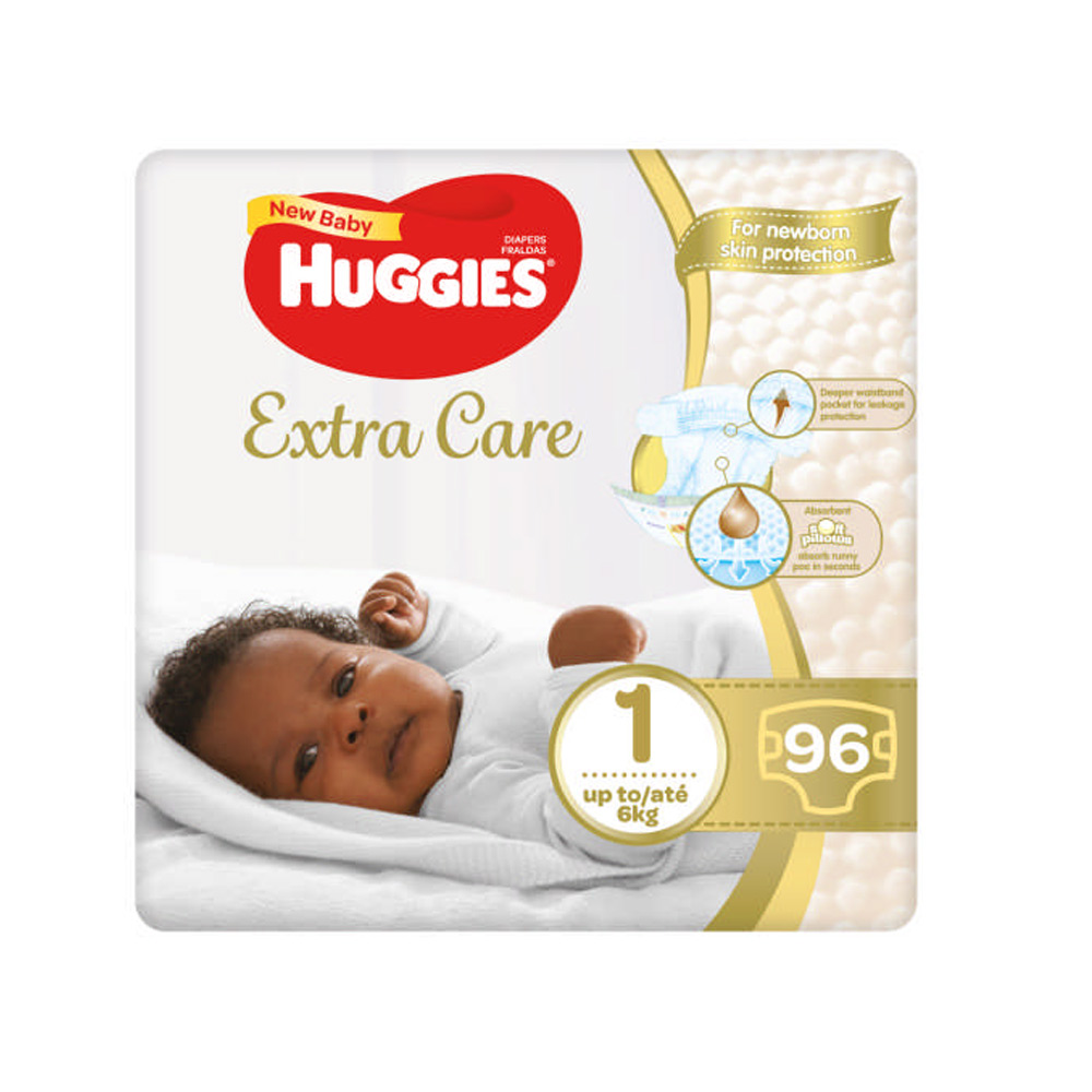 Huggies Extra Care New Baby Size 1 96 S Baby Boom Online South Africa S Most Affordable Baby Store