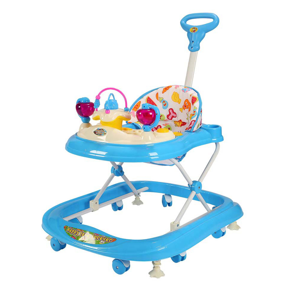 Baby Walker With Handle Monkey Box Assorted Colours - Baby ...